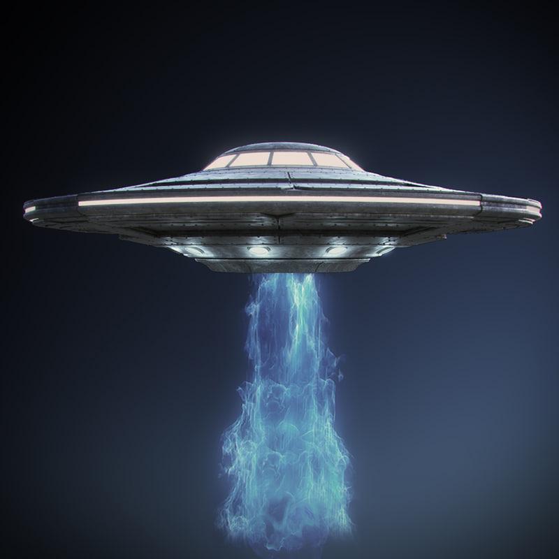 alien spaceship ufo 3d max