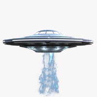 alien spaceship ufo 3d max