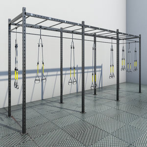 3d trx gym model
