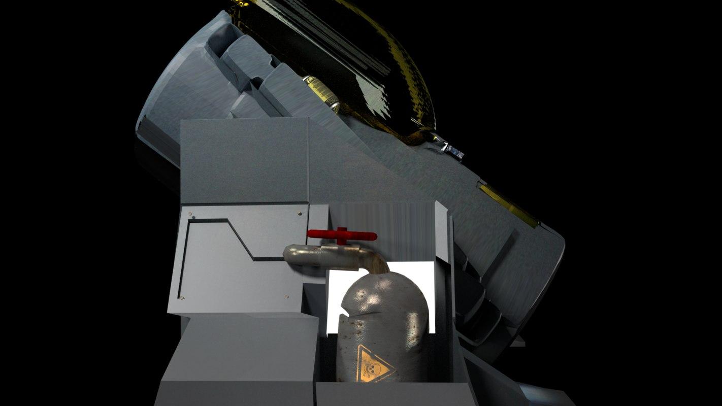 cryo tank 3d model