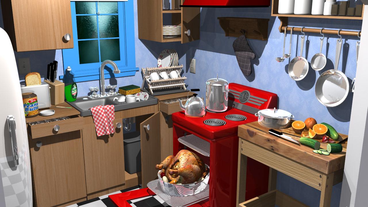 In The Cartoon  Kitchen