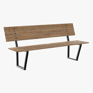 3d model plank bench