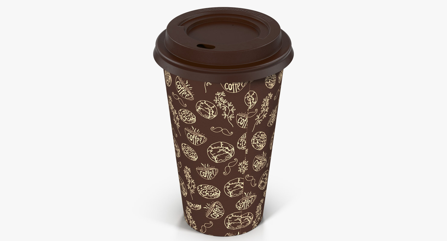 3d model of coffee cup takeout design