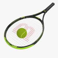 3d wilson tennis racket ball
