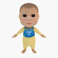 3d kid child model