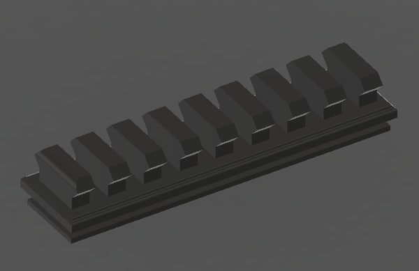 picatinny rail nerf 3ds
