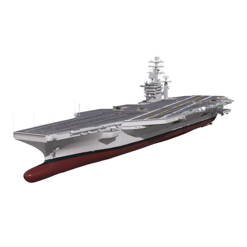3d model uss nimitz cvn-68
