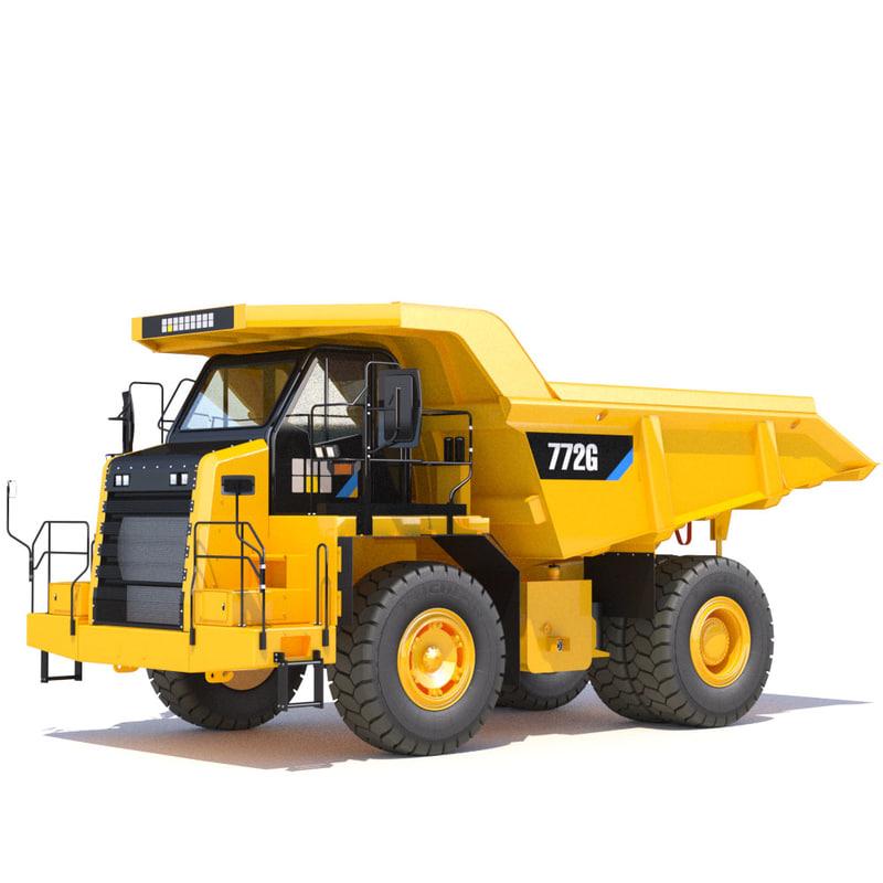3d model mining rigid dumptruck