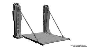 3d gate games design model
