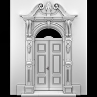 3d arch door classical model