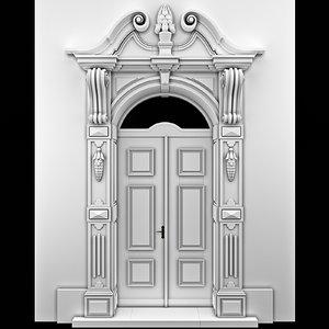 3d arch door classical model
