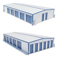 3d self storage units model