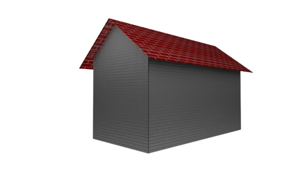 simple house dxf free