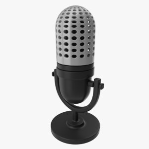 3d icon microphone