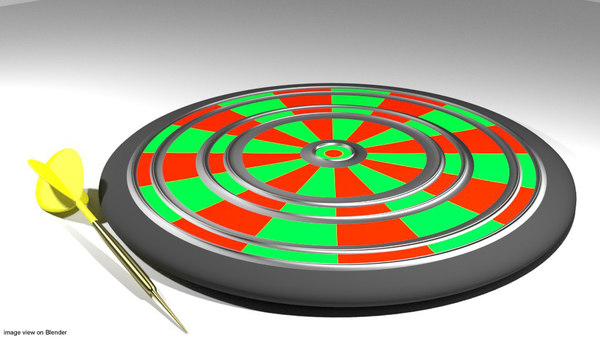 3d model of arcade dart