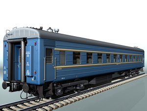4-axle railcar lvz railroad 3d model