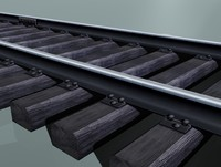 Rail track (woody sleepers)