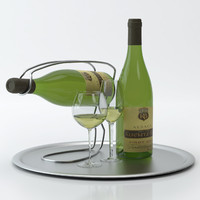 alcohol set 12: alsace 3d model