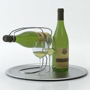 alcohol set 12: alsace 3d model