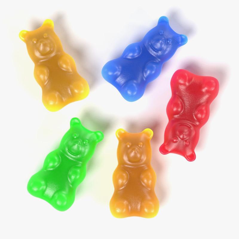 3d gummy bear model