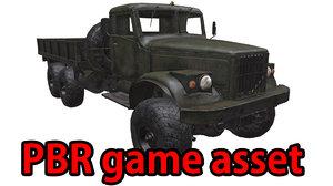 3d obj soviet truck pbr