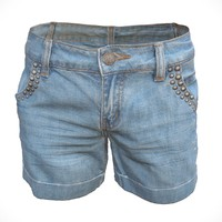 3d realistic jeans shorts