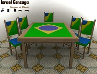 table brazil 3d max