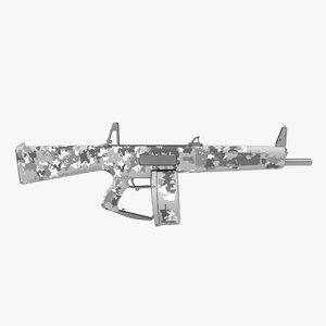 combat shotgun aa-12 drum 3d c4d