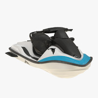3d model jet ski generic rigged