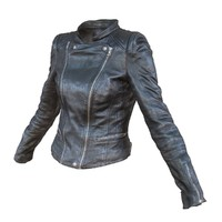 leather jacket 3d obj