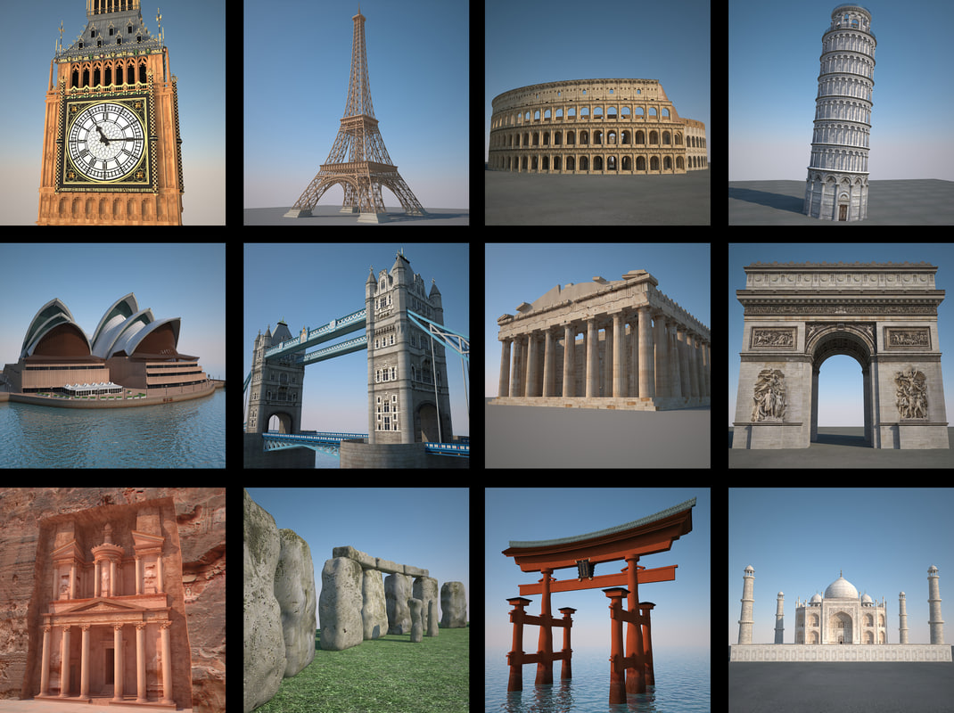 landmarks hd 3d max