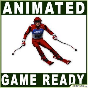 3d ski model