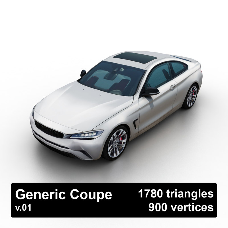3d model generic coupe