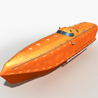 3d lifeboat 2 model