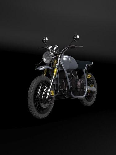 custom bike 3d model