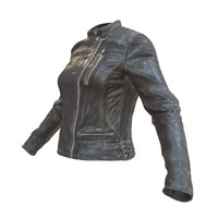 leather jacket 3d obj