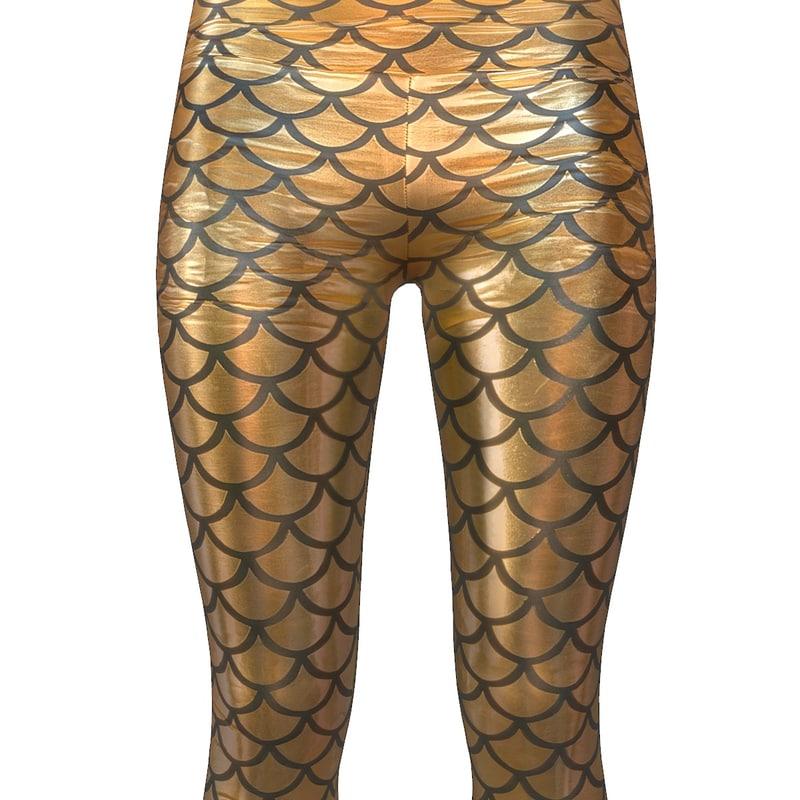 3d legging gold