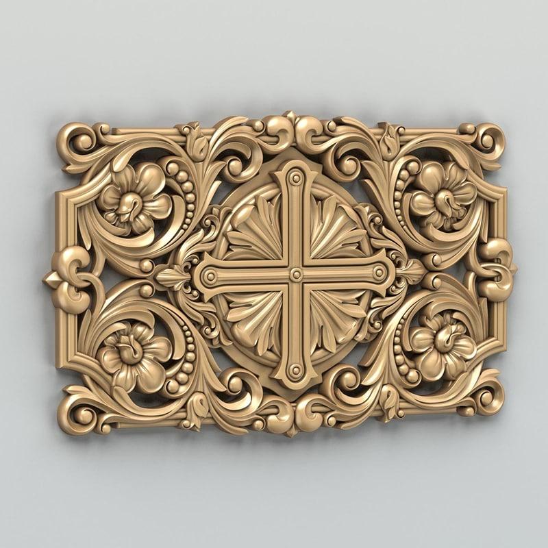 carved central decor obj