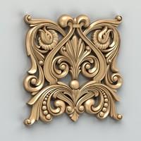 3d model carved central decor