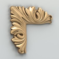 carved corner decor 3d max