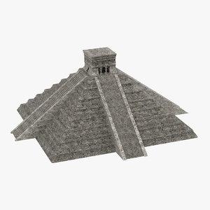 3d 3ds mayan pyramid