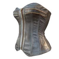obj corset zipper leather