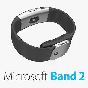 3d microsoft band 2 model