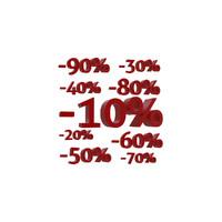 3d discounts text model