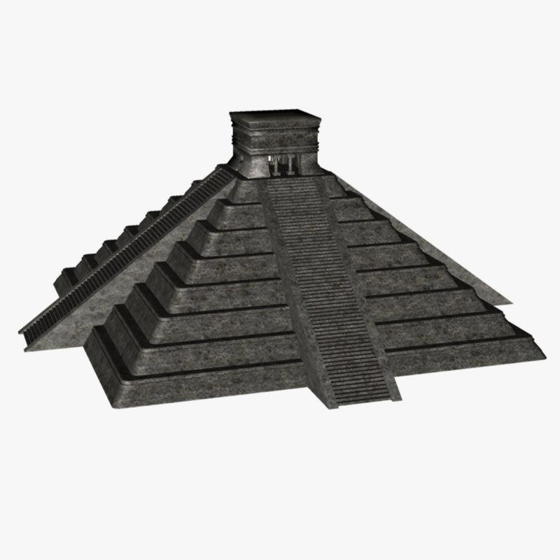 mayan pyramid c4d