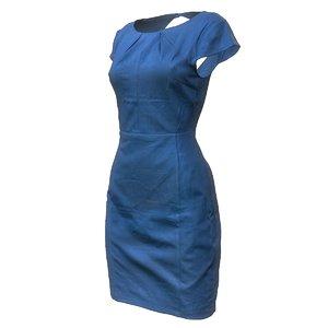 3d dress blue model