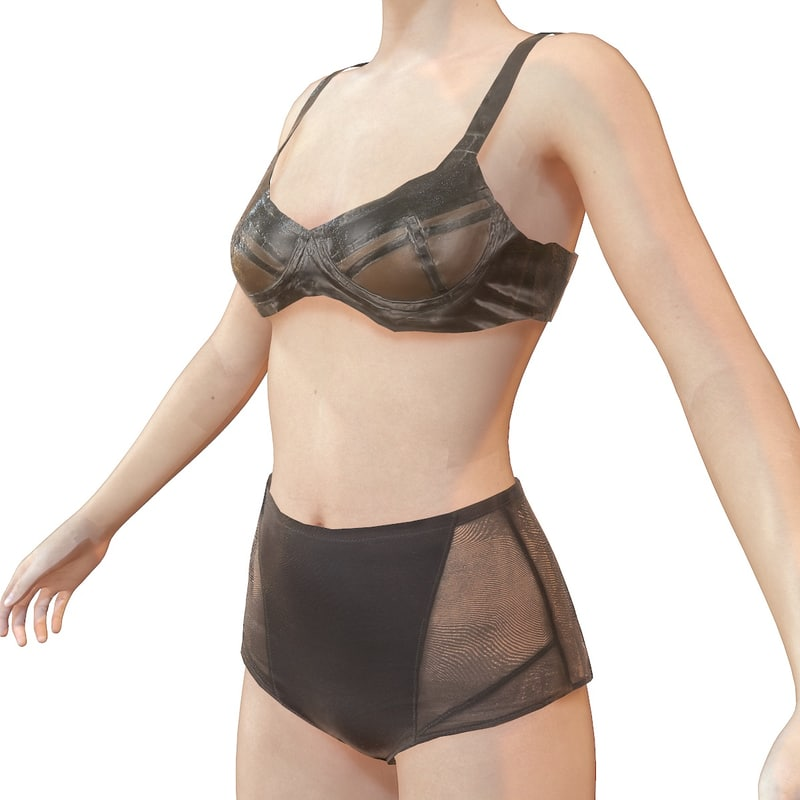 latex lingerie 3d obj