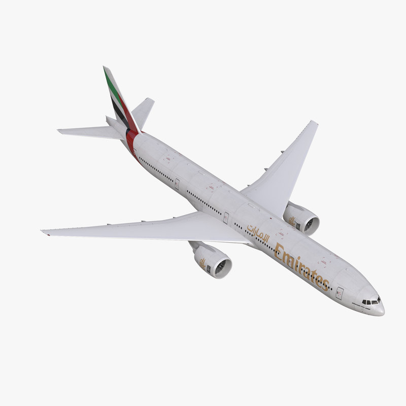 3d model boeing 777-300 emirates airlines