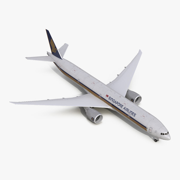 3d boeing 777-300 singapore airlines