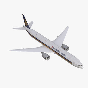 3d boeing 777-300 singapore airlines model